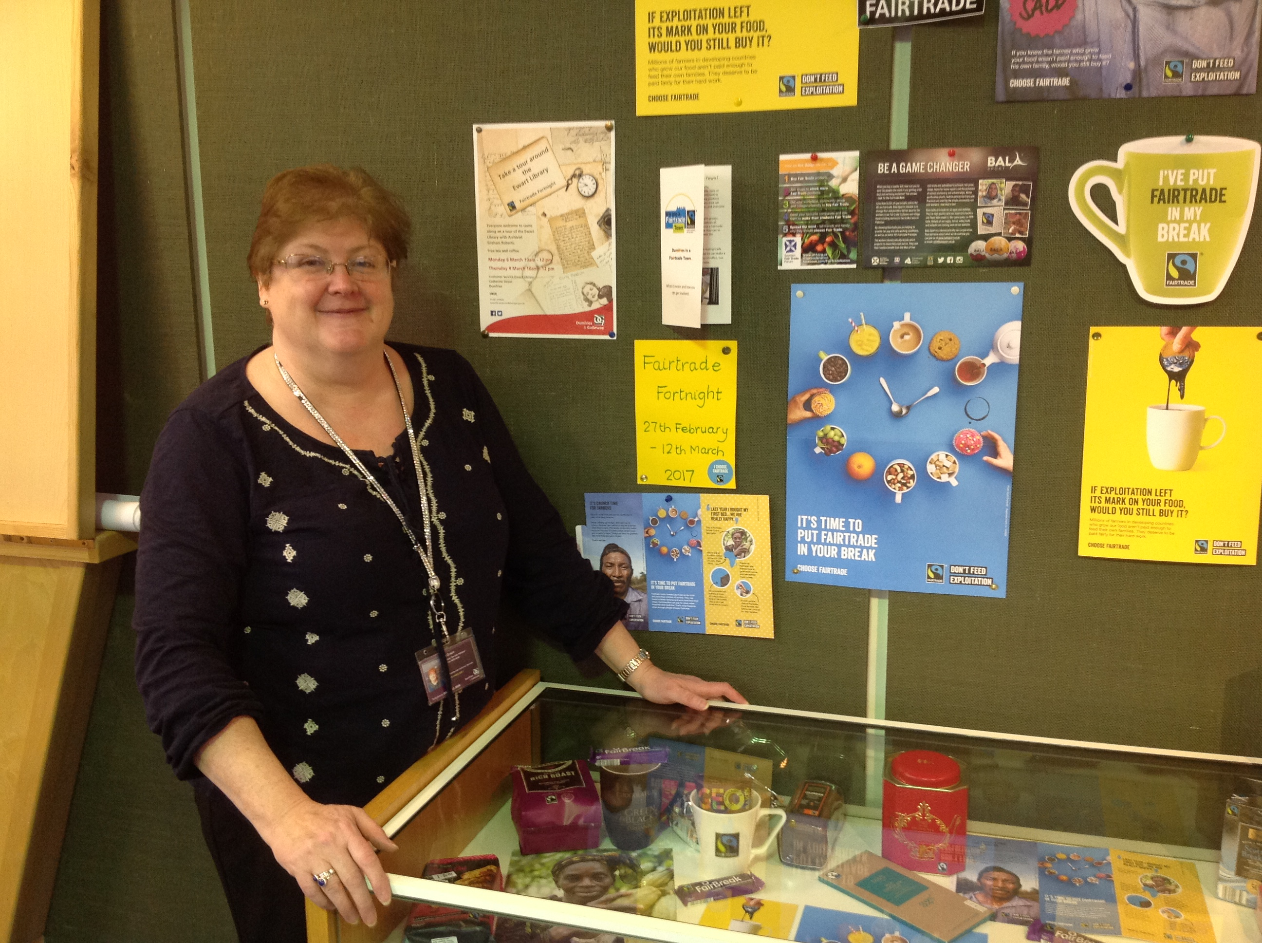 Fairtrade Display at Lochthorn Library