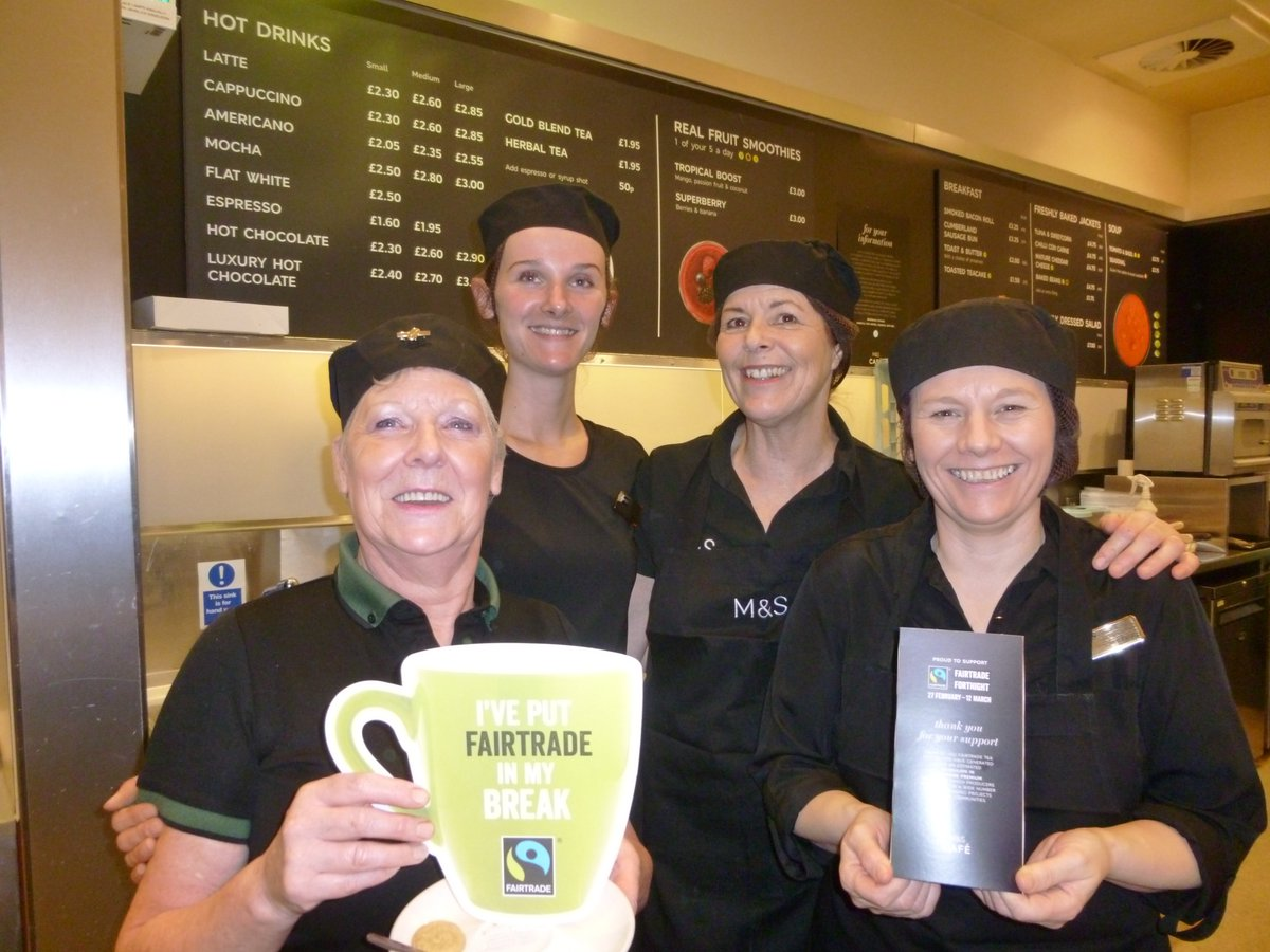 Staff at M and S enjoyed a fairbreak