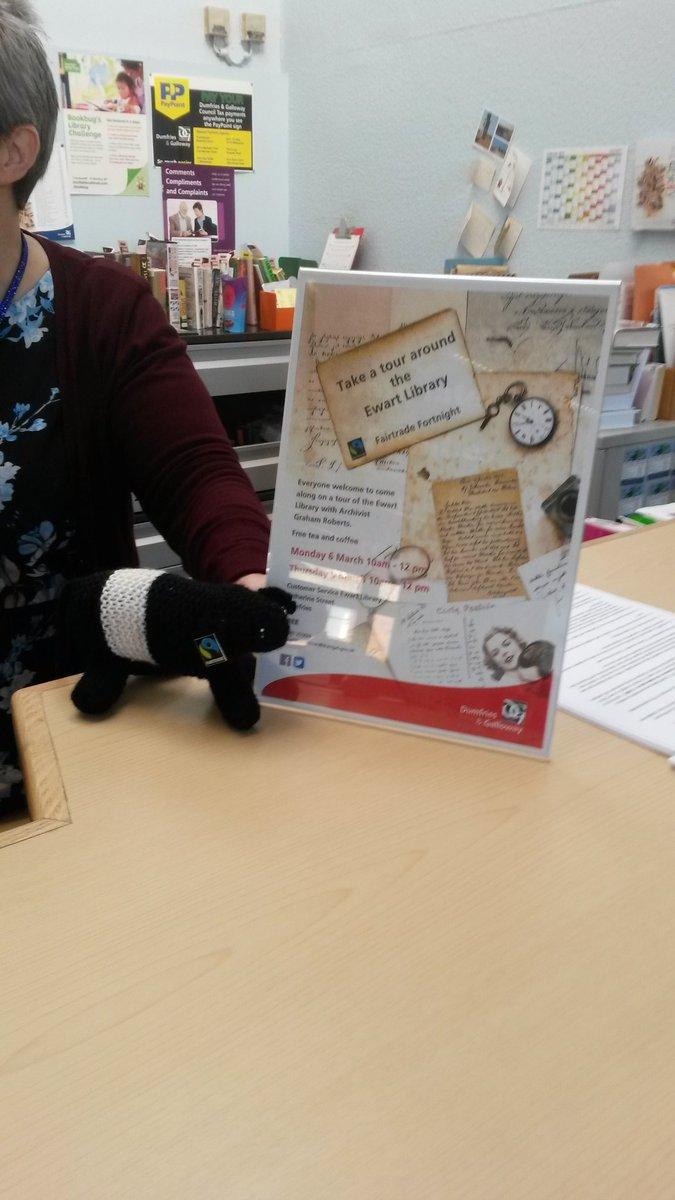 Doonie takes the library tour
